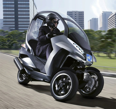 peugeot hymotion 3 three wheels scooter concept tuvie. Black Bedroom Furniture Sets. Home Design Ideas