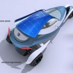 Futuristic Sleek Peugeot Shoo Car Concept with Solar Panel Roof
