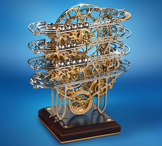 Physicist S Perpetual Motion Clock Features Complex Work