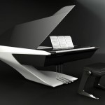 Futuristic Grand Piano by Peugeot Design Lab for Pleyel