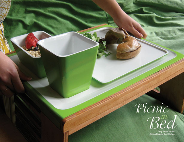 Picnic in Bed Tray Table Set for Dining