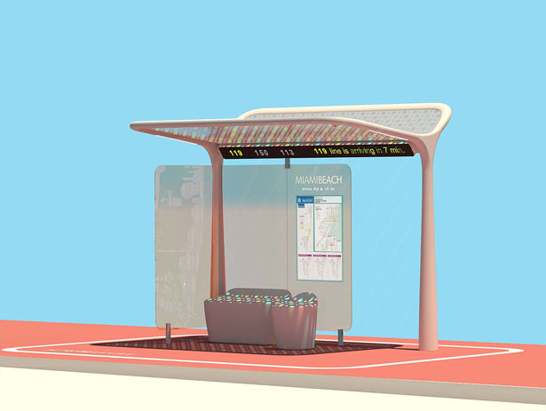 Pininfarina Bus Shelter Concept for the City of Miami Beach