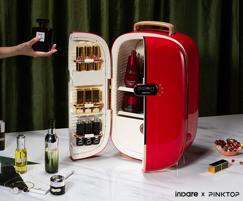 PINKTOP x inDare Fridge for Beauty Products
