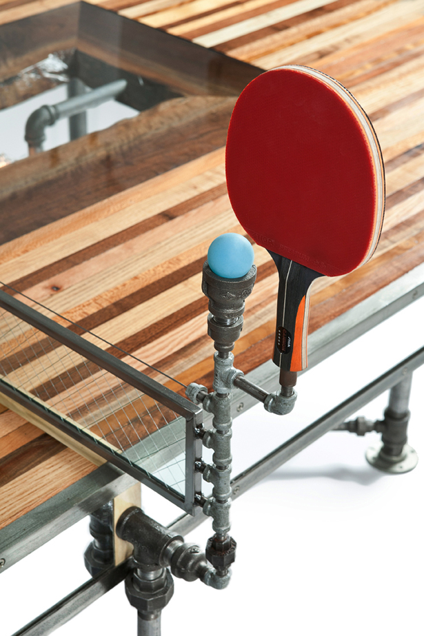 Pingtuated Equilibripong pingpong table and dinner table by Akke Functional Art