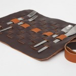 Piqnique : Cutlery Leather Holder by Jenny Hsu