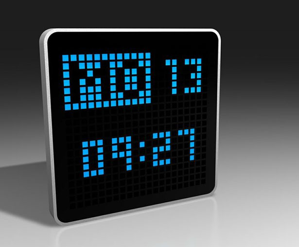 Pixlclock Multicolor LED Clock by Eliel Cabrera
