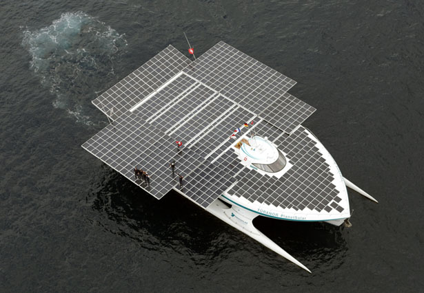 PlanetSolar Solar Powered Boat Travels Around The World