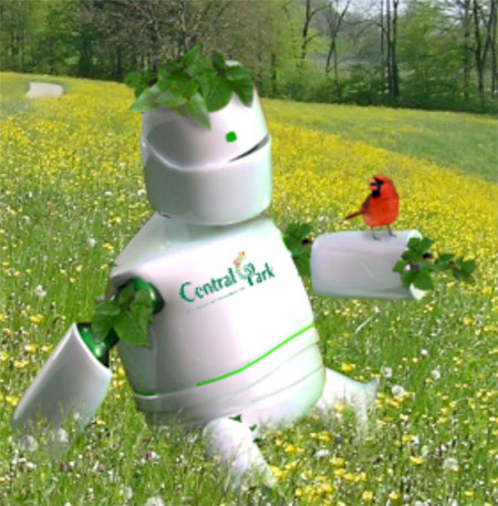 Plant-o-Bot Gets Energy From the Plants On Its Body Distinguishing The Necessity Of A Green Environment