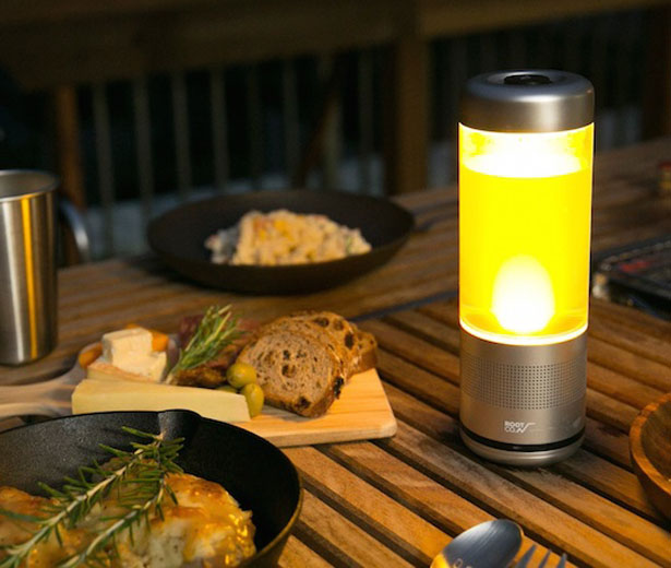 Playful Lantern Speaker, Water Bottle, and LED Light in One