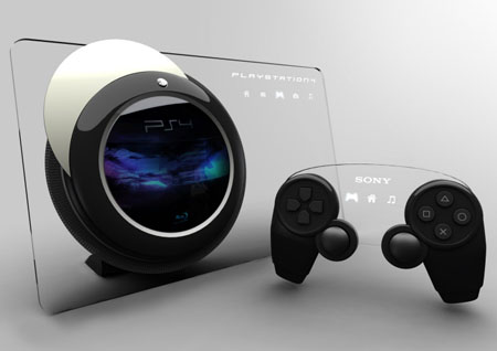 playstation4 concept with glass touchscreen panel