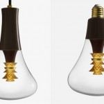 Plumen 003 Pendant Set Features Center Gold Element to Reflects and Diffuses Light