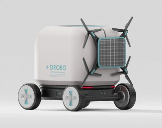 Futuristic +DROBO Medicine Delivery Robot with a Drone to Speed Up the Delivery Process