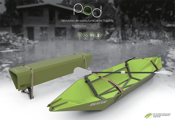 POD: Multifunctional Life-Saving Furniture for Flooding by Kin Pan Lo