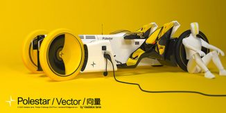 Polestar Vector – Four Wheeled Concept Motorcycle for The Year of 2040