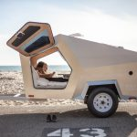 Polydrop Trailer - Polygonized Teardrop Shaped Towable Trailer