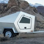 Polydrop Trailer - polygonized teardrop-shaped Cabin Trailer