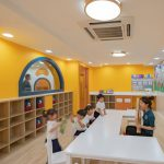 Pony Running Daycare Showroom Interior Design by VMDPE
