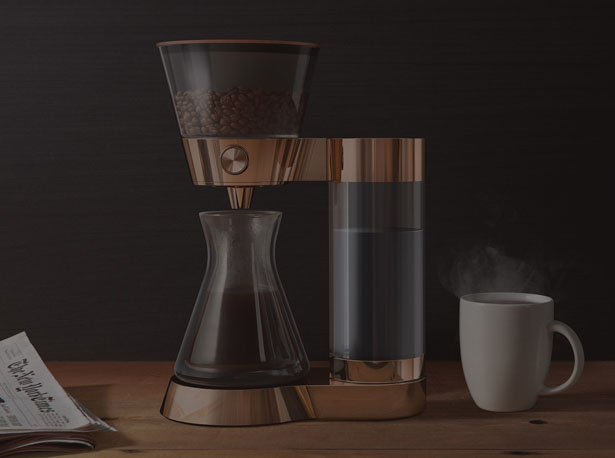 Gorgeous Poppy Pour-Over Coffee Machine Makes Your Coffee On Demand