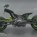 PORSCHE 618 Electric Motorcycle by Miguel Angel Bahri