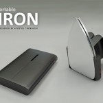 Portable Iron Design with Two Heating Plates