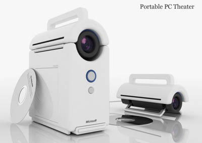 Portable PC Theater with Built-In Projector