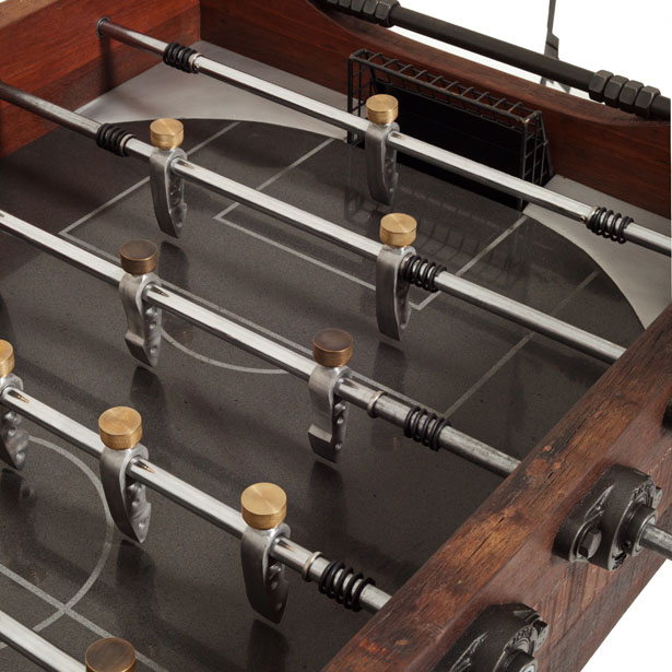 Post Foosball Game Table Is Made Out of Salvaged Pieces of Historical Buildings