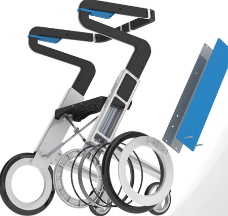 Stylish personal mobility solution pe walker tuvie for Mobility walker