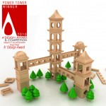 Power Tower Wooden Toy Design by DesignNobis