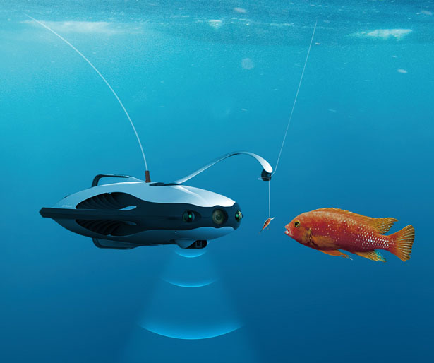 PowerRay Underwater Robot - Fish Finder Drone