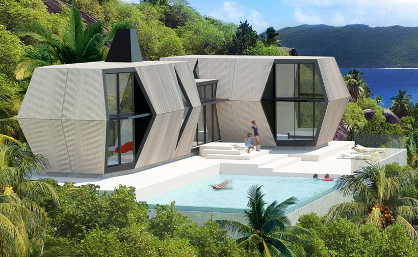 Prefab Folding Pod - Emergency Shelter Inflates and Collapses Fast and Easy by Hariri&Hariri Architecture