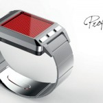 Profusely-LEDs-Watch Features LED Dot Matrix to Display Time and Animation