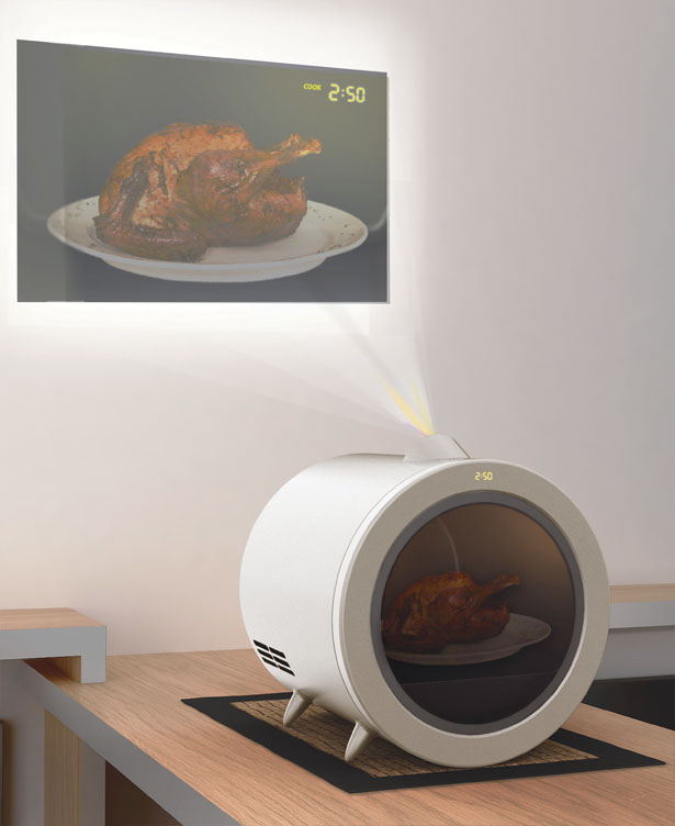 Proinjector : Microwave Oven with Built-in Projector by Hwang Jungjoon and Lee Jaeryong