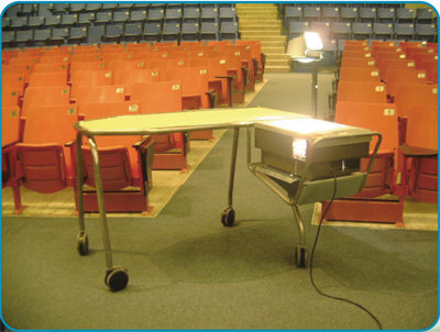 disabled peopel to use overhead projector desk