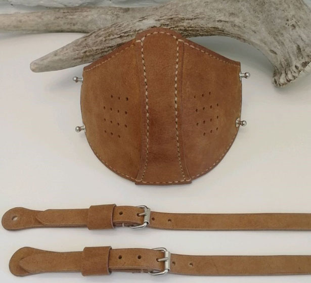 Protective Leather Face Mask with Filter