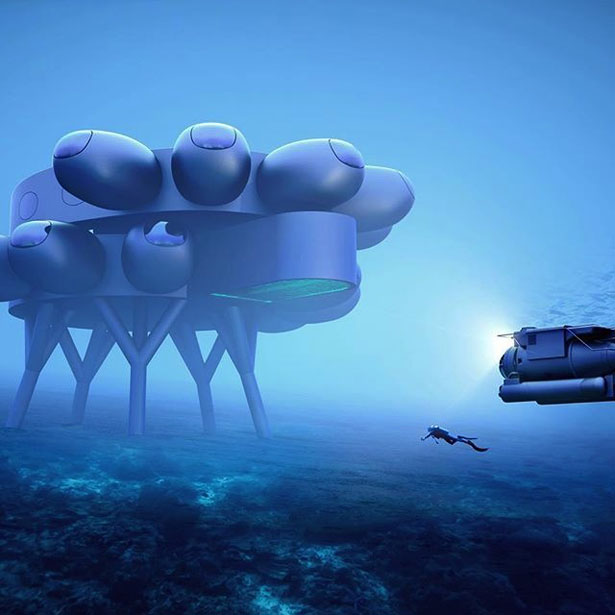 FuseProject PROTEUS International Underwater Station for Fabien Cousteau Ocean Learning Center (FCOLC)