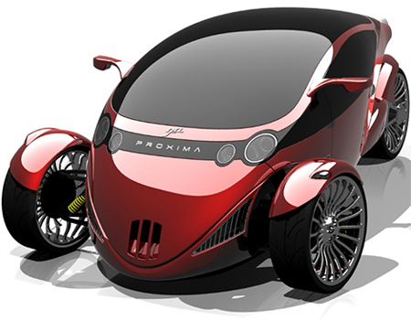 Proxima Concept : A Merge Between A Car and A Motorbike