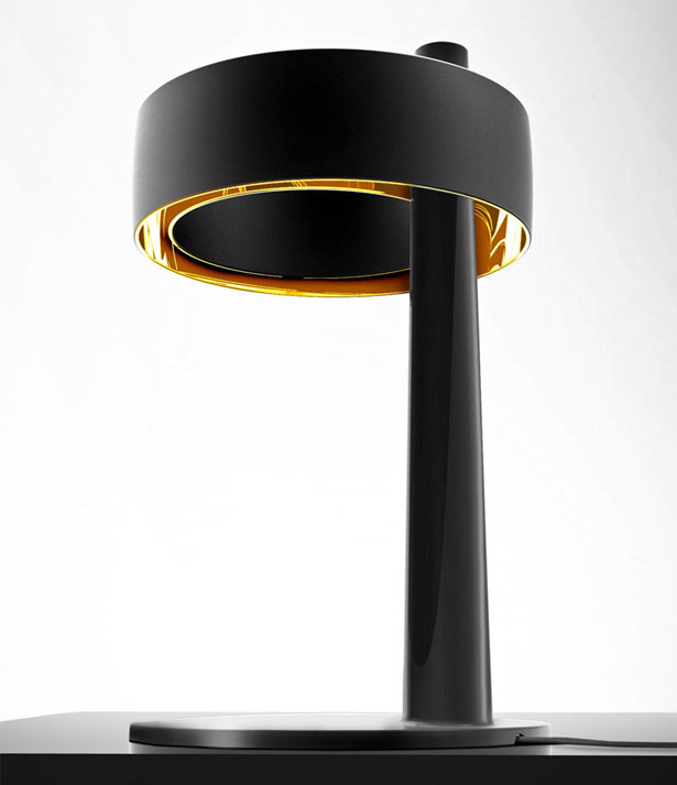 Pulsar Asimmetrica Ceramic Table Lamp With USB Connector