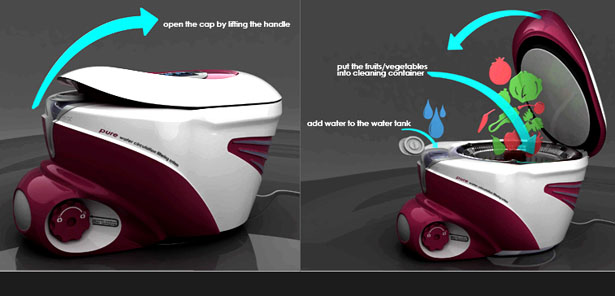 Pure Water Saver Fruits Vegetable Purifier and Dryer