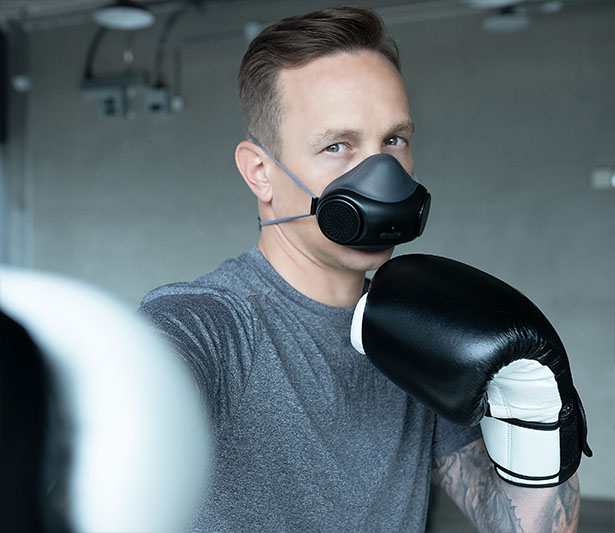 purME Air Breathable Face Mask with Built-in UV-C Light