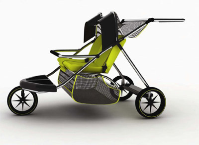 pushchair design for 3 children