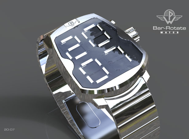 PW Bar Rotate Watch by Patrick Weingartner