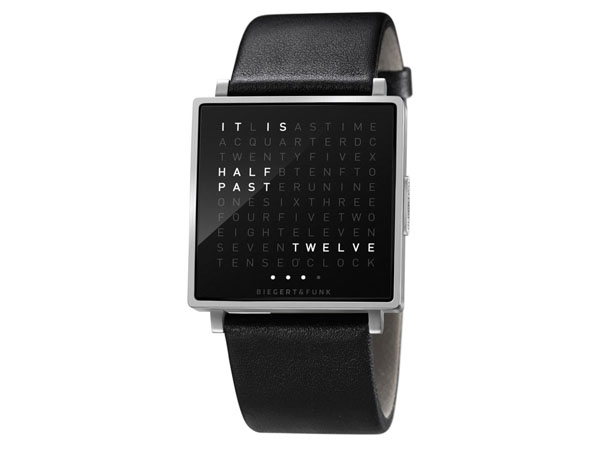 qlocktwo watch time in words by biegert funk tuvie. Black Bedroom Furniture Sets. Home Design Ideas