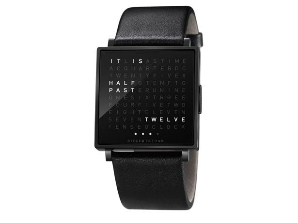Qlocktwo Watch : Time in Words by Biegert & Funk