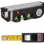 Qooltek Multipurpose Laser Measure Line with 8ft+ Measure Tape Ruler