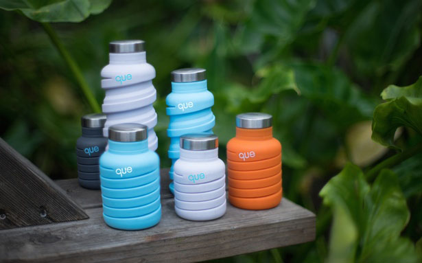 Que Bottle : Collapsible Travel Water Bottle by Jean Wu
