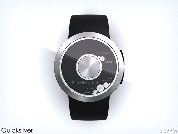 Quicksilver LCD Watch by Samuel Jerichow