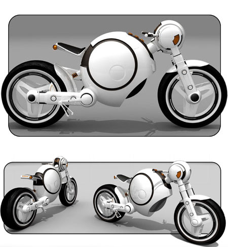 Rae Motorbike Features Different Riding Style and Position with Great Customizability