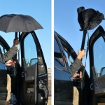 RainBender Umbrella Opens and Closes Inside a Cylinder Tube