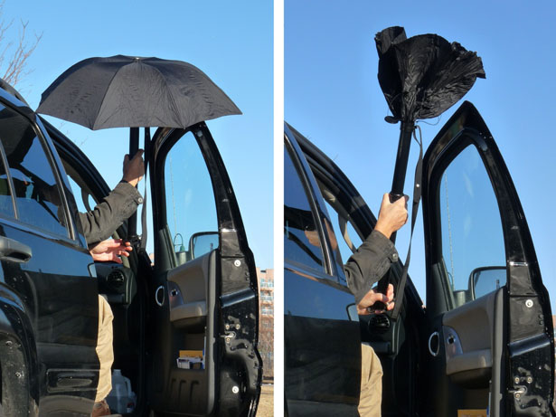 RainBender Umbrella - Inside Out Folding Mechanism