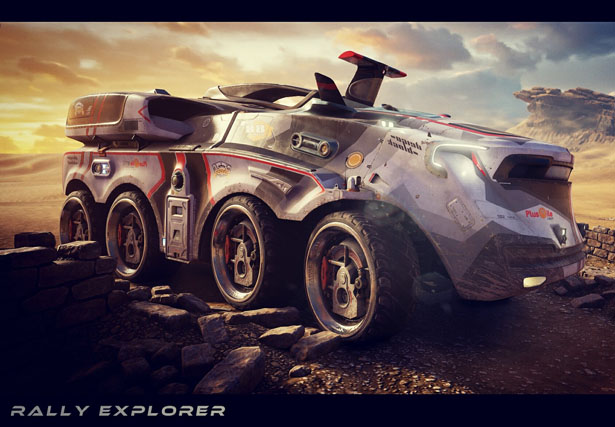 Rally Explorer Futuristic Concept Transportation by Jianzhi Chen